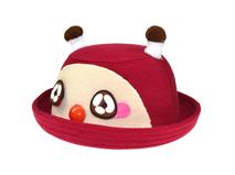 勇发服饰-折边儿童卡通毛呢定型帽工厂贴牌加工出口订制 小孩帽-RW458