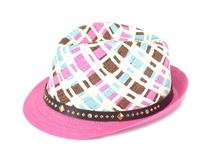 勇发服饰-ODM订做时尚柳丁韩版拼色草编定型帽 夏季遮阳 儿童-RZ417