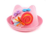 勇发服饰-小女孩粉色可爱贴布绣耳朵可爱草帽 夏季 工厂专业加工-RZ419