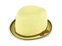 勇发服饰-草编定型帽 纯色简约 小辫子 儿童夏季遮阳帽 外贸定做-RZ421