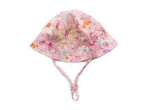 勇发服饰-粉色婴儿花朵印花夏季小边帽ODM加工 12年诚信通-AM074