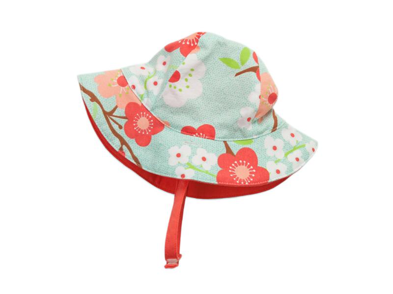 勇发服饰-女童印花花朵小清新款渔夫帽 夏季户外遮阳小边帽-YM016
