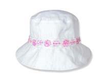 勇发服饰-白色简约女童夏季户外遮阳桶帽 渔夫边帽RM464