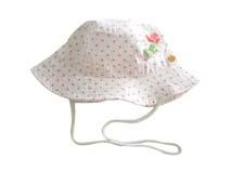 勇发服饰-点点小蝴蝶结女童夏季遮阳桶帽加工RM469
