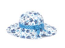 勇发服饰-小女孩新款印花蝴蝶结户外遮阳大边渔夫帽RM489