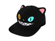 勇发服饰-黑色卡通绣花怪物嘻哈平板帽RM501